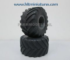 53.5x30mm Tyres Low Pressure 900 X 42 R35, + rims 1:32 Scale by Artisan32 (Cat No. 34811)