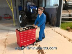 Man For Pushing (Toolbox/Trolley) Figure 1:32 Scale AT-Collections (Cat. No. 32110/32111)