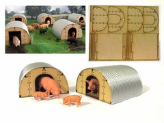 FB055A 2x Pig Arks Building Kit 1:32 scale by HLT Miniatures
