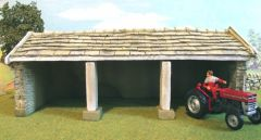 C21 Traditional Stone Tractor Shed Barn by JG Miniatures
