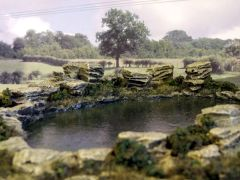 S28 'Any Scale' Large Water Feature Pond by JG Miniatures