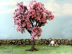 S39 Large Cherry Tree 20cms Cherry Tree 'Any scale' by JG Miniatures