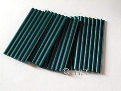 23256 Dark Green Corrugated Roof Sheets 1:32 Scale by Juweela