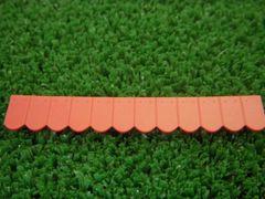 23239 Flat Roof Tiles Row Medium Red by Juweela