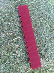 23241 Flat Roof Tiles Row Dark Red by Juweela