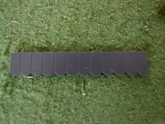 23269 Flat Roof Tiles Row Anthracite by Juweela