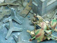 23148 WW2 Light Anti Tank Obstacles Concrete Hegdehog 1:32 Scale by Juweela