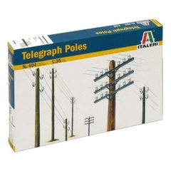 12 x Telegraph Poles Kit 1:32/1:35 Scale by Italeri 404