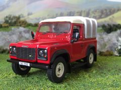 42732 Britains Land Rover Defender 90 with Canopy - Red 1:32 scale