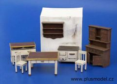 PLM109 Kitchen Furniture Kit in 1:32/1:35 scale by Plusmodel