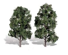 8-9in Cool Shade (Dark) Trees (2) by Woodland Scenics WTR3521