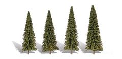 "WTR3568 Forever Green Fir Trees by Woodland Scenics 3.5-5.5"" 4 Pack"