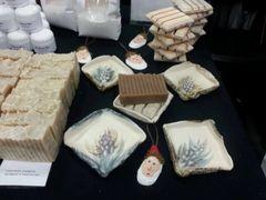 Ceramic soap dish