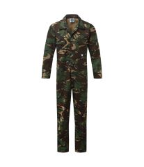 Snap Front Adult Camouflage Coveralls