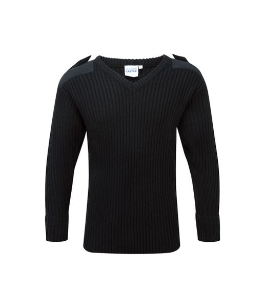 BLUE CASTLE V-NECK COMBAT SWEATER (Wholesale 10 items)