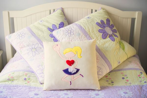 Blonde Cheerleader Plush Pillow