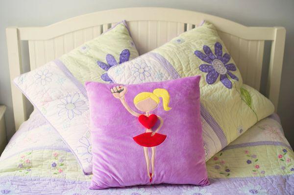 Blonde Ballerina Plush Pillow