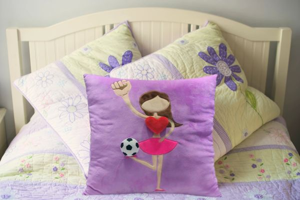 Brown Soccer Plush Pillow