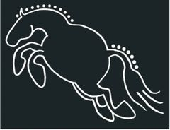 Chubby Horse Decal: Hunter - Item # D Hunter
