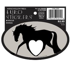 Euro Horse Oval Sticker: Horse with heart Euro Sticker - Item # ES ESR2