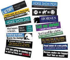 36 BUMPER STICKER Pack - 36 Funny Horse Bumper Stickers - Item # RP-36 BS