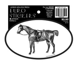 Euro Horse Oval Sticker: Antique Horse - Item # ES 2 AH