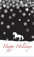 Christmas Card: Cantering Horse in Snow - Item # GC X Snow