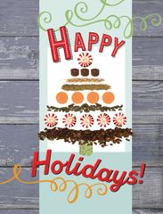 BOXED Christmas Card: Christmas Tree with Feed - Item# BX Feed