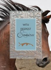 Sympathy Card: With Deepest Sympathy - Item# GC 45 Sym