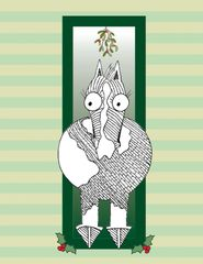 BOXED Christmas Card: Horse with Mistletoe - Item# BX Mistletoe