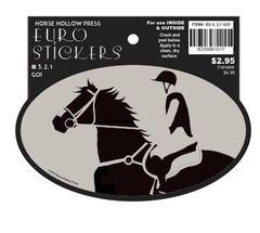 Euro Horse Oval Sticker: 3, 2, 1 - GO! Eventer read to go - Item # ES 3,2,1 GO!