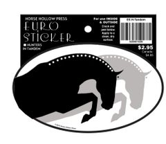 Euro Horse Oval Sticker: Hunters in Tandem- Item # ES H-Tandem
