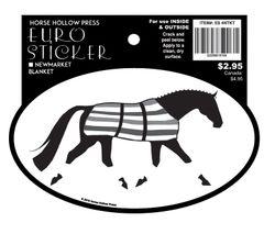Euro Horse Oval Sticker: Newmarket blanket with straps- Item # ES 4NTKT w/Straps