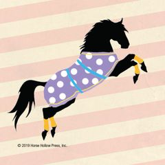 Mini Horse Stickers: Same Design 12 stickers Polka dot on stripes - Item # PHS 1