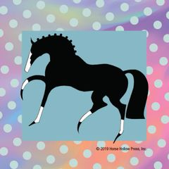 Mini Horse Stickers: Same Design 12 stickers Stylized horse with polka dots - Item # PHS 2