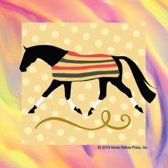 Mini Horse Stickers: Same Design 12 stickers Newmarket blanket with polka dots - Item # PHS 4