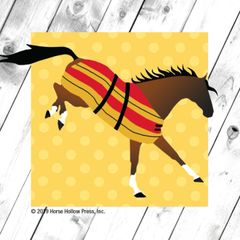 Mini Horse Stickers: Same Design 12 stickers Bucking Newmarket blanket - Item # PHS 11