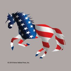 Mini Horse Stickers: Same Design 12 stickers Patriotic Horse - Item # PHS 13