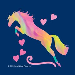 Mini Horse Stickers: Same Design 12 stickers Neon jumper with hearts - Item # PHS 14