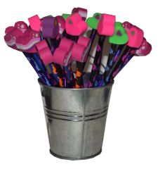 Thermo Horsey Pencils with Toppers and Display -item # Toppers