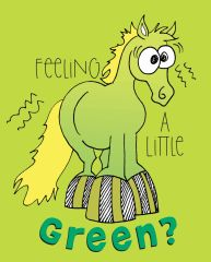 Get Well Card: Feeling a little green?- Item# GC GW Green