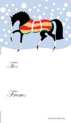 Gift Tag: Stylized Horse with Snow Item # GT X 242