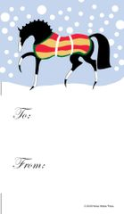 Gift Tags in BULK: Stylized Horse with Snow- Item # GT X BULK 242