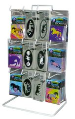 Mini Stickers & Helmet Sticker Display - Item #: MSHS Large Display
