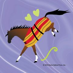 Mini Horse Stickers: Same Design 12 stickers Bucking Newmarket blanket - Item # PHS 11 alt