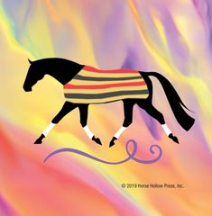 Mini Horse Stickers: Same Design 12 stickers Newmarket blanket with polka dots - Item # PHS 4 Alt