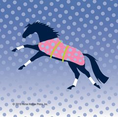 Mini Horse Stickers: Same Design 12 stickers Stylized horse with polka dots - Item # PHS 2 alt