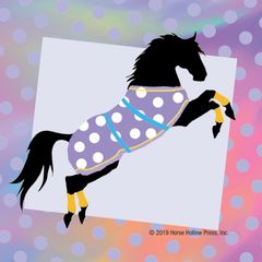 Mini Horse Stickers: Same Design 12 stickers Polka dot on stripes - Item # PHS 1 alt
