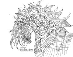 FREE pdf Horse Coloring Artwork