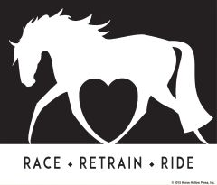 Clear Vinyl Window Sticker: Race, Retrain, Ride - Item # D Race